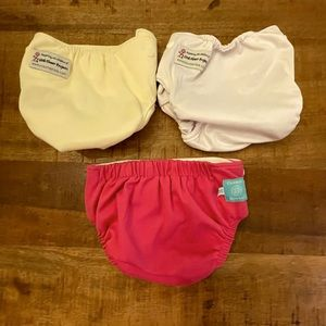 Reusable cloth diapers. Lot of three. Great shape!